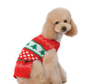 Dog Sweater for Cat Cute Red Small Puppies Teacup Chihuahua Pet Winter Coat Cold Weather Clothes PUPTECK