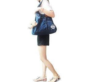 Dogloveit Denim Sling Carrier Bag for Puppy Pet , 21x13x6.7-inch, Blue 7