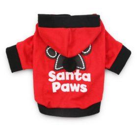 DroolingDog Christmas Dog Shirt Small Pet Santa Hoodie Dog Costume for Small Dogs