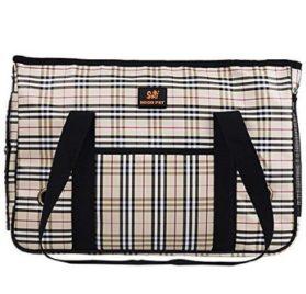 Enjoying Doggie Puppy Carriers Travel Bag Cat Carrier Grid Handbag