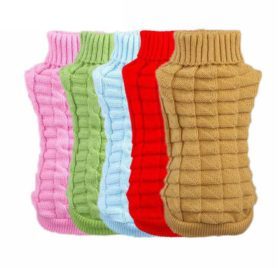 HuoGuo Pet Dog Clothes Winter Chihuahua Puppy Dog Coat Pet Winter Woolen Sweater Knitwear Clothing For Dog Roupas Para 2