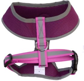 Lanyar Reflective Mesh Harness for Dogs, 8 Inch – Purple 2