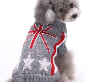 MaruPet Christmas Halloween Dog Ribbed Knit Sweater Knitwear Turtleneck Pattern Kintted Doggie Vest Top Apparel for Girl Teddy, Pug, Chihuahua, Shih Tzu, Yorkshire Terriers, Papillon