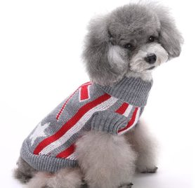 MaruPet Christmas Halloween Dog Ribbed Knit Sweater Knitwear Turtleneck Pattern Kintted Doggie Vest Top Apparel for Girl Teddy, Pug, Chihuahua, Shih Tzu, Yorkshire Terriers, Papillon 3