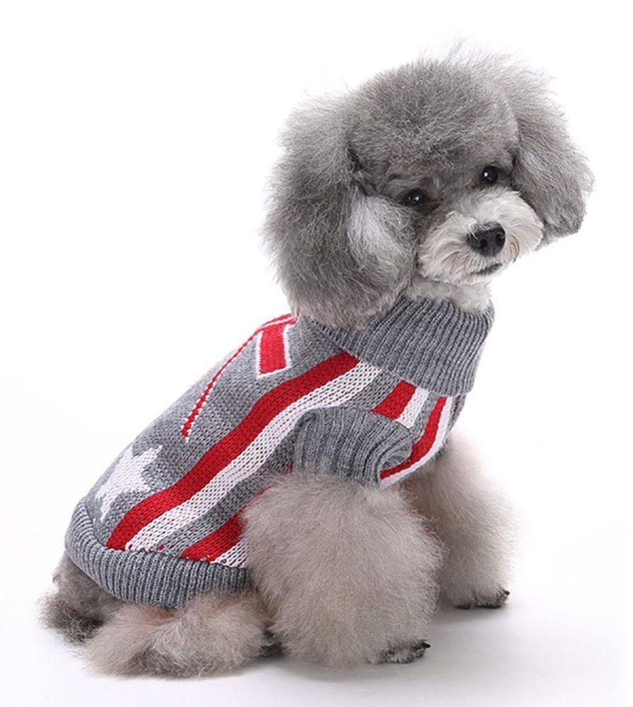 Marupet Christmas Halloween Dog Ribbed Knit Sweater Knitwear