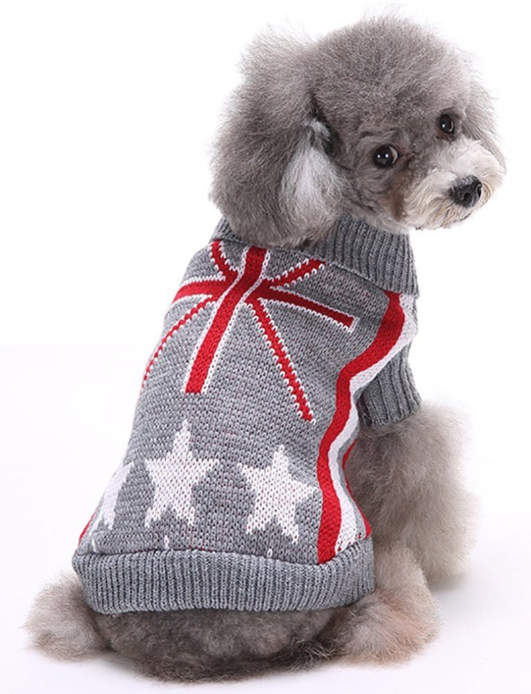 Marupet Christmas Halloween Dog Ribbed Knit Sweater Knitwear