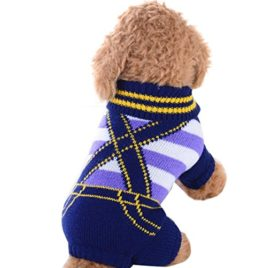 Minisoya Cute Pet Dog Stripe Sweater Cat Puppy Clothes Small Dogs Costume Rompers Coat