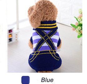 Minisoya Cute Pet Dog Stripe Sweater Cat Puppy Clothes Small Dogs Costume Rompers Coat 3