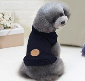 Minisoya Cute Pet Sweater Dog Cat Puppy Sweater Warm Knit Clothes Jacket Coat Apparel 2