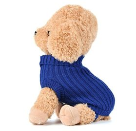Minisoya Pet Dog Cat Knitted Jumper Winter Warm Sweater Puppy Coat Vest Jacket Clothes Costume 2
