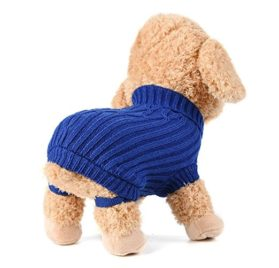 Minisoya Pet Dog Cat Knitted Jumper Winter Warm Sweater Puppy Coat Vest Jacket Clothes Costume