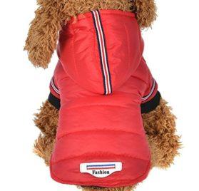 Minisoya Pet Dog Cat Puppy Winter Warm Clothing Sweater Costume Hooded Jacket Coat Apparel (1)