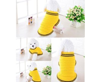 Minisoya Pet Dog Hollow Knit Sweater Shirt Clothes for Small Dogs Costume Winter Puppy Apparel 2