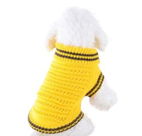 Minisoya Pet Dog Hollow Knit Sweater Shirt Clothes for Small Dogs Costume Winter Puppy Apparel