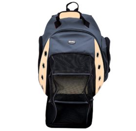 Multiple Deluxe Dog Carrier Mesh Travel Backpack Double Shoulders Straps Bag for Small Pet Puppy Cat Dark Grey 2
