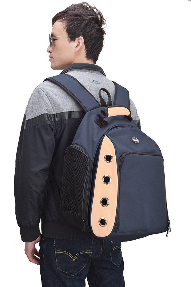 Multiple Deluxe Dog Carrier Mesh Travel Backpack Double