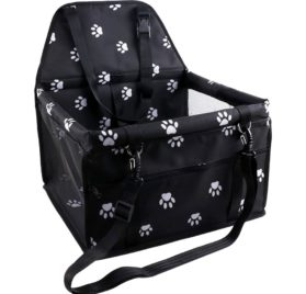 OAKZIP Pet Reinforce Car Booster Seat for Dog Cat Portable and Breathable Bag with Seat Belt Dog Carrier 9