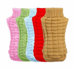 Outtop Dogs Cold Weather Knitted Turtle Neck 3D Patterns Sweater for Small-sized Dogs 2
