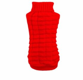 Outtop Dogs Cold Weather Knitted Turtle Neck 3D Patterns Sweater for Small-sized Dogs
