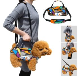 PET ARTIST Multifunctional Pet Carrier for Small Dog, Pet Sling Carrier, Travel Bag for Chihuahua, Puppy,Cat