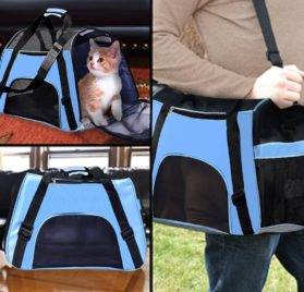 PPOGOO Pet Travel Carriers Soft Sided Portable Bags for Dogs and Cats Airline Approved Dog Carrier 6