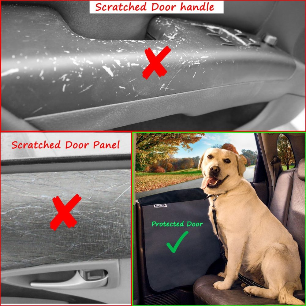 ... Pet Car Door Cover For Dogs   Set Of 2   Interior Protector And Guard  For