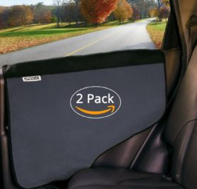 Pet Car Door Cover for Dogs - Set of 2 - Interior Protector and Guard for Vehicle Back Door by PetEvo