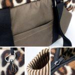 Qianle Leopard Dots Lightweight Pet Carrier Dog-Cat Handbag Shoulder Tote Bags Coffee S 3