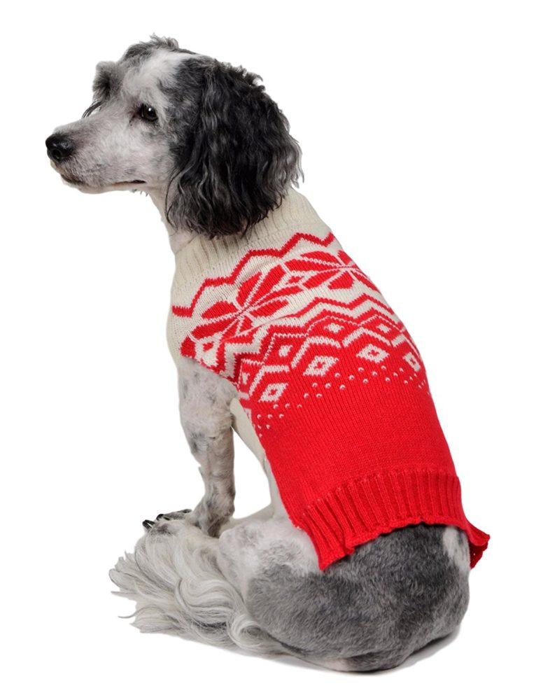 rwb pet classic fair isle ugly christmas dog sweater red - Ugly Christmas Dog Sweater