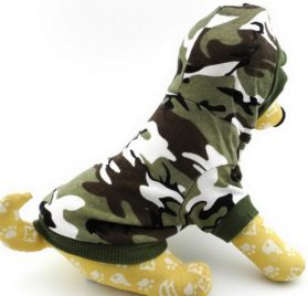 Ranphy Small Dog Cat Camo T-shirt Puppy Tank Top Chihuahua Hoodie for Boy Crown Shirt Puppy Tee Shirt