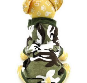 Ranphy Small Dog Cat Camo T-shirt Puppy Tank Top Chihuahua Hoodie for Boy Crown Shirt Puppy Tee Shirt 3