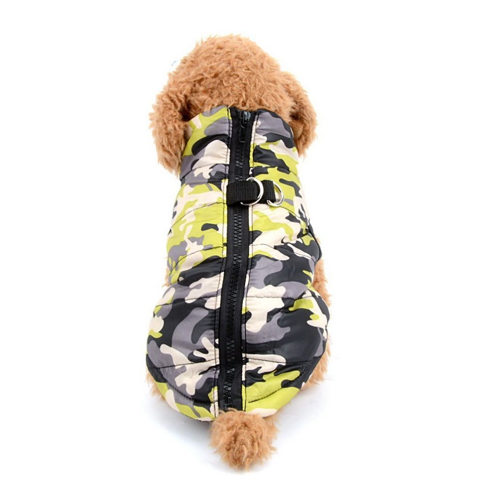 Camo Dog Jacket Small