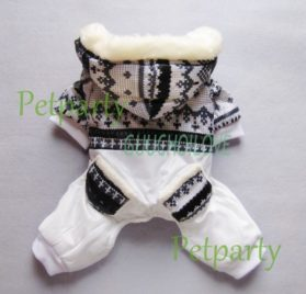 Soft Warm Dog Coat for Dog Jumpsuit Dog Hoodie Cozy Fashion Pet Clothes Black S 2