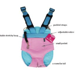 Strimm Comfort Legs Out Front Facing Backpack Style Pet Shoulder Carrier Bag for Small Dog Puppy Cat Kitten,Great for Travel,Hiking,Biking-Pink Size S