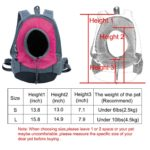 uxcell Small Dog Cat Pet Carrier Backpack Portable Outdoor Travel Tote Bag, S, Fuchsia 2