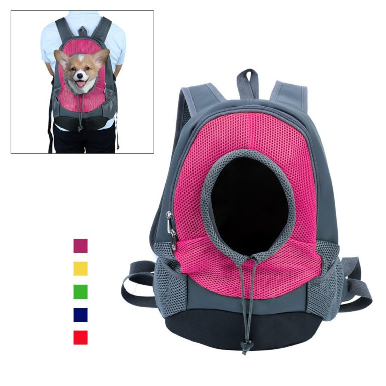 uxcell Small Dog Cat Pet Carrier Backpack Portable Outdoor Travel Tote Bag, S, Fuchsia
