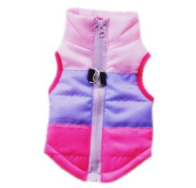 2017 Hot Pet Vest,Elevin(TM)New Hot Fashion Male Female Pet Dog Winter Warm Padded Cloth Pet Jacket Vest Coat Supplies Costumes,For Chihuahua poodles Beagles Boston Dog (XS, Hot Pink)