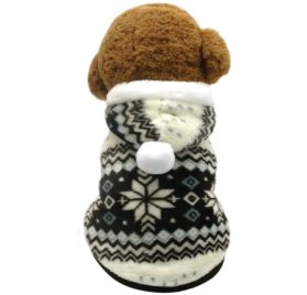 Beirui Cute Christmas Dog Jacket - Dogs Winter Coat Soft Fleece Padded Vest - Warm Pet Jumpsuit
