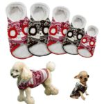 Beirui Cute Christmas Dog Jacket - Dogs Winter Coat Soft Fleece Padded Vest - Warm Pet Jumpsuit 5