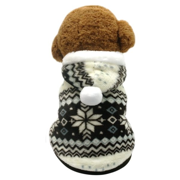 Beirui Cute Christmas Dog Jacket - Dogs Winter Coat Soft Fleece Padded Vest - Warm Pet Jumpsuit