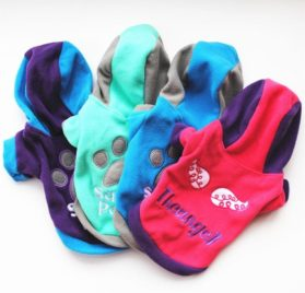 Binmer(TM) Lovely Pet Dog Clothes Puppy Winter Costume Warm Hoodie Coat Jacket for Apparel Chihuahua Poodle Teddy 2