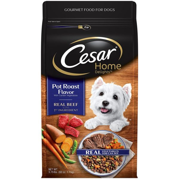 Cesar Dry Food 10169596 Small Breed Dog Pot Roast Flavor with Garden Vegetables, 3.75 lb