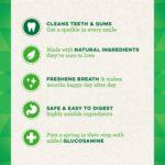 GREENIES Hip and Joint Care Dental TEENIE Dog Treats - Mega TREAT-PAK Package 18 oz. 65 Treats 9