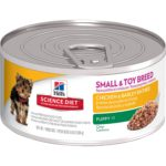 Hill's Science Diet Puppy Small & Toy Chicken & Barley Entree Wet Dog Food, 5.8-Ounce Can, 24-Pack