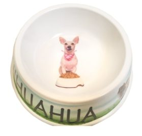 I Love My Chihuahua Dog Bowl, 8-inch