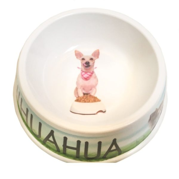 I Love My Chihuahua Dog Bowl, 8-inch