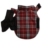 JoyDaog Reversible Plaid Dog Coat(7 Sizes)Waterproof Windproof Warm for Cold Weather Dog Jacket 2