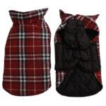 JoyDaog Reversible Plaid Dog Coat(7 Sizes)Waterproof Windproof Warm for Cold Weather Dog Jacket 6