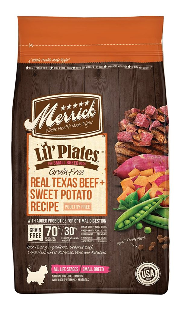 Merrick Lil Plates Grain Free Small Breed Recipe, 4-Pound, Beef