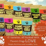 Paw to Tail Dog Jerky Treats, Made USA, All Natural, Low Fat, Grain Free, 8oz 8